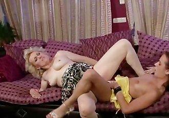Granny seduces her son\