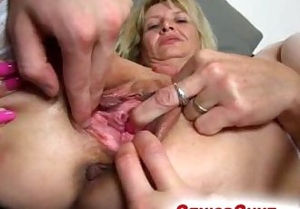Older wife gets fingered by a boy feat. milf Ivona