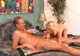 Mature blonde sucks and fucks big dick
