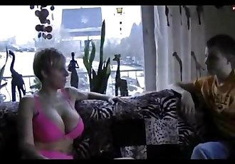 Teen boy turns 18 and lets this German Milf squirt