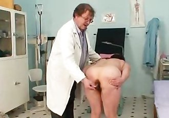 Huge tits plumper mature gyno doc check up